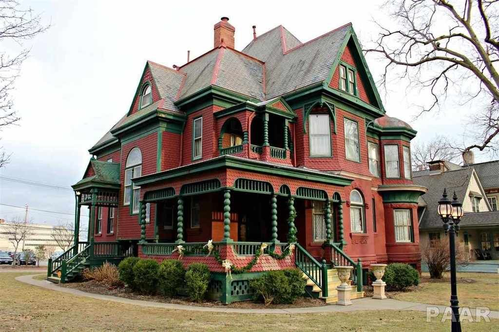 1888 Queen Anne Peoria, IL Victorian homes, Old house
