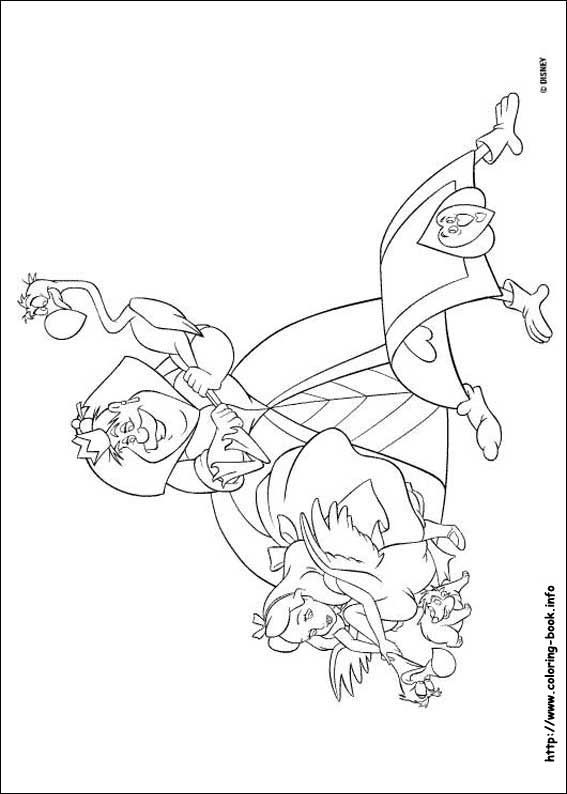 Alice in Wonderland coloring picture   Coloring Pages & Books ...