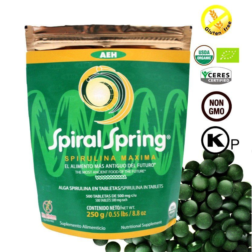 Spirulina Tablets, The Easiest way to Take Spirulina Maxima!! Fits perfect with any kind of lifestyle bringing your body's nutritional intake to it's highest level. The World High