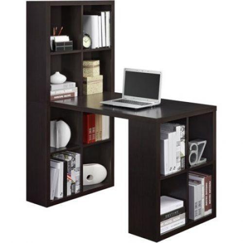 Home Office Desk Computer Pc Craft Table Workstation Bookcase Storage  Espresso