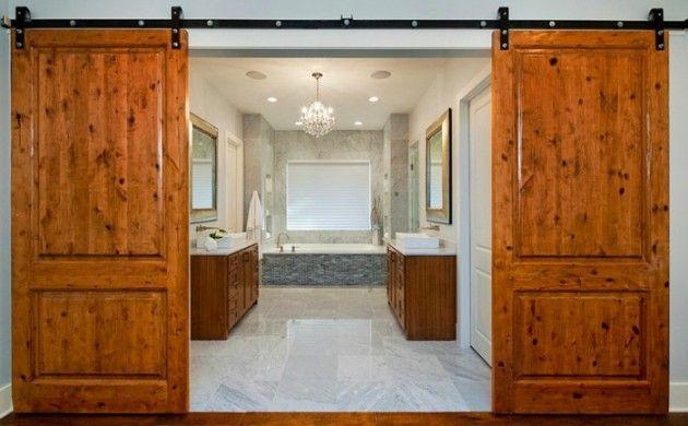 Praktische Schiebetüren für ein rustikales Flair - schiebetüren für badezimmer
