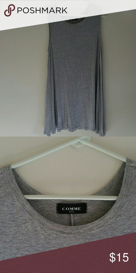 Tank dress Grey A line tank dress. Super comfortable. In great condition. I bought it at a small boutique. Dresses Mini