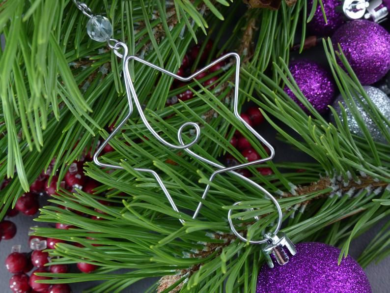 Star Christmas Tree Ornament Hangers Wire Star Ornament