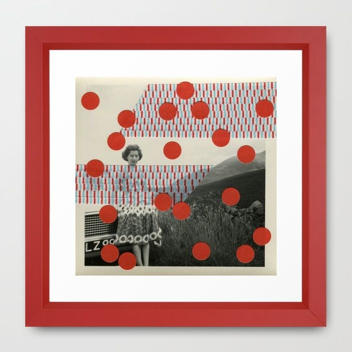 Hot Chili Framed Art Print  #society6products #society6artprints #artcollage #papercollage #handmadecollage #analoguecollage #vintagecollage #retrocollage #vinylcollage