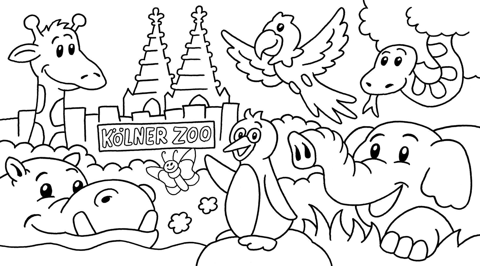 Ausmalbilder Zootiere