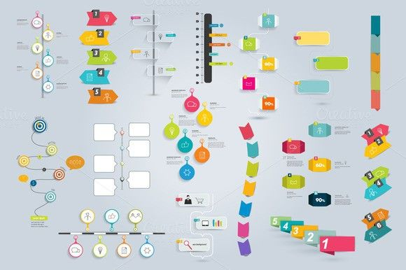 big collection of timeline template business infographic templates graphic