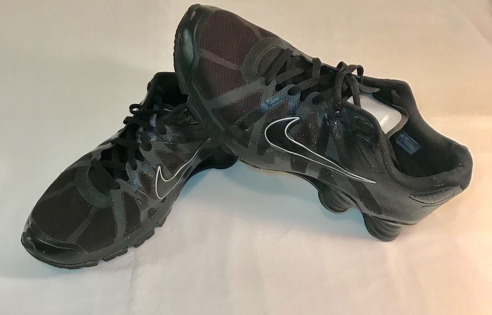 607a2a484519 Nike Shox Roadster+ Triple Black Wolf Grey Anthracite NZ Rare SZ 14 (487604-002)   Nike  AthleticSneakers