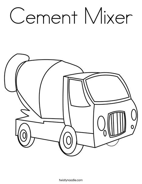 Cement Mixer Coloring Pages , Free Transparent Clipart - ClipartKey | 605x468