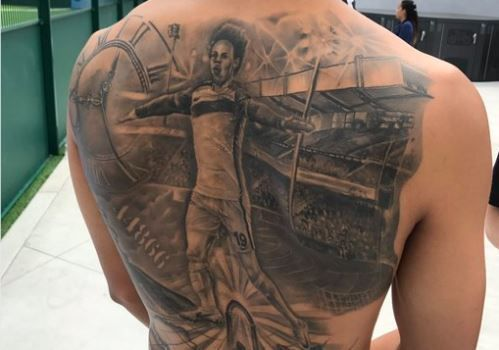 Leroy Sanes Massive Tattoo Of Himself Across His Back Is