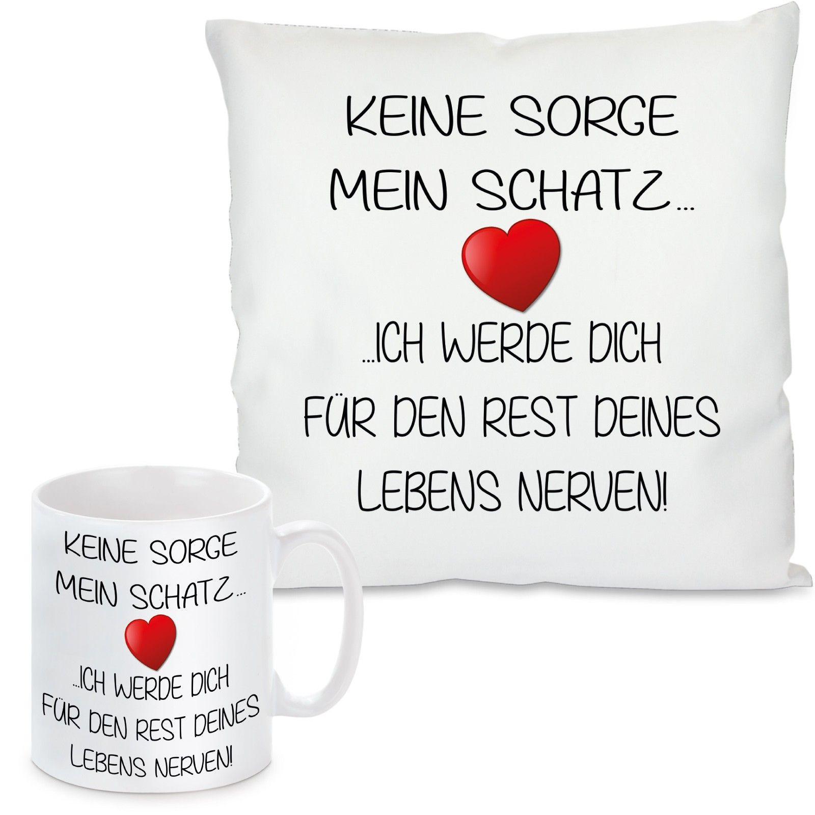 Liebes Kissenbezug mit Spruch /'/'Keine Sorge Schatz Ich Werde Dich für den Rest