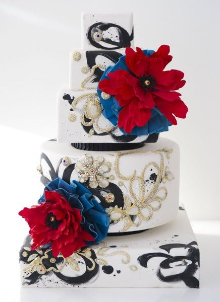 Wedding Cakes Pictures Blue And Red Wedding Cakes Wedding