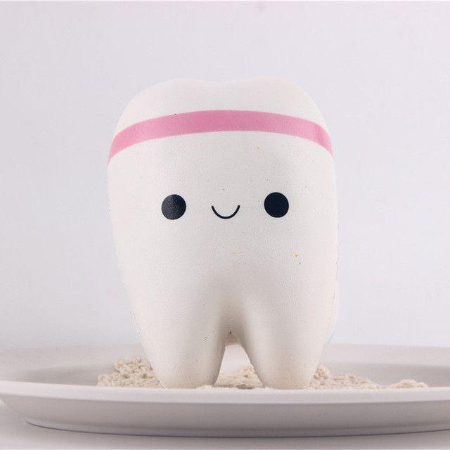 1pcs Squishy Toys Squishies Cellphone Straps Teeth Buns Bread Wholesale Cheap Kawaii Squishy Jumbo in stock