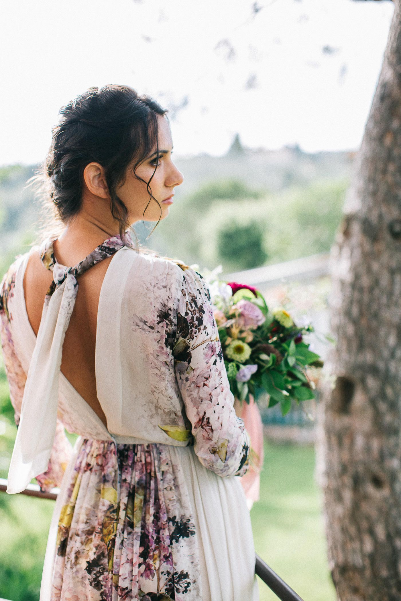 Floral print wedding dresses  Floral Print Wedding Dress  Wedding dress Bridal shoot and Weddings