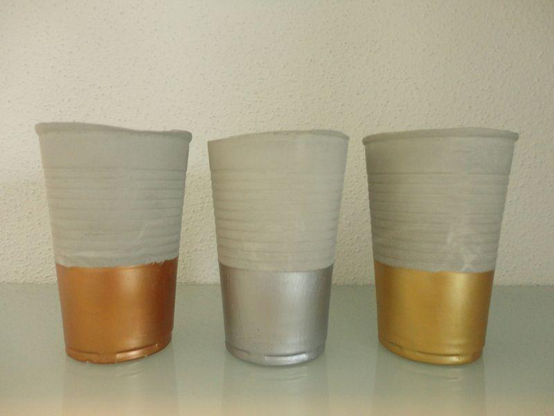 3er Set Beton Teelichthalter ° Kerzenständer von Handmadeblues auf DaWanda.com