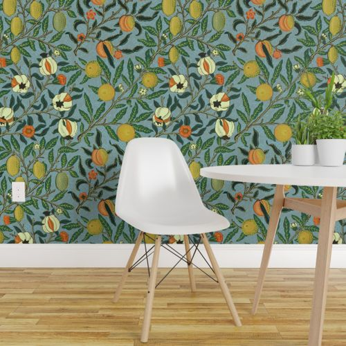 Fruit Or Pomegranate William Morris Removable Wallpaper Home Decor Textured Walls