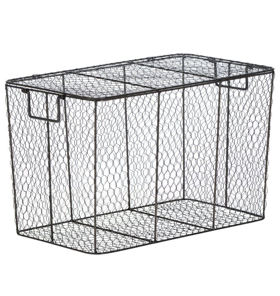 Lidded Wire Basket | Rejuvenation | Housekeeping | Pinterest | Wire ...