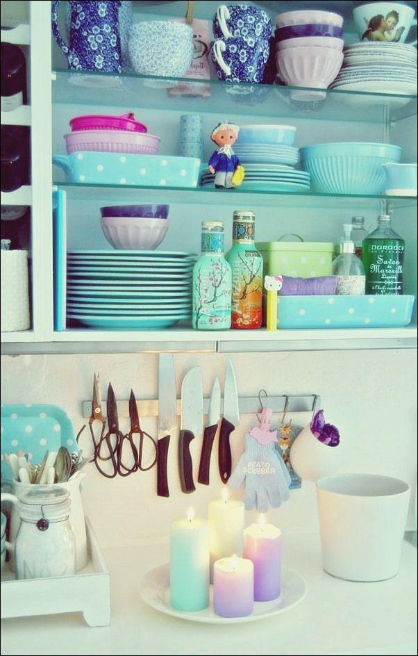 Süß wie Süßigkeiten: Fügen Sie Ihrer Küche einen Pop von Pastell hinzu #palettendeko