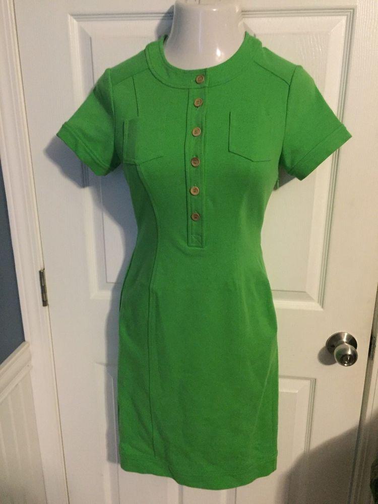 Diane vonFurstenberg Quincy Dress Size 6 Short Sleeve Green #DianeVonFurstenberg #Dress #Casual