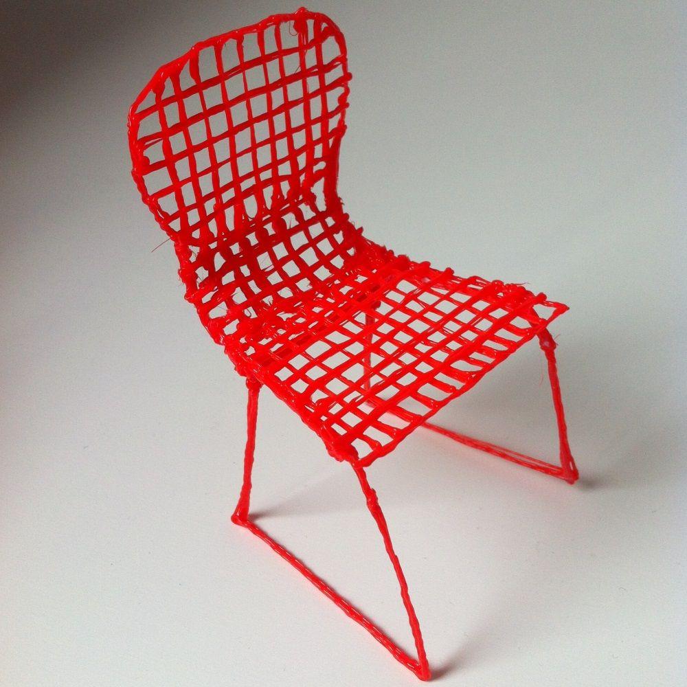 Handmade mini chair created using 3D printing pen