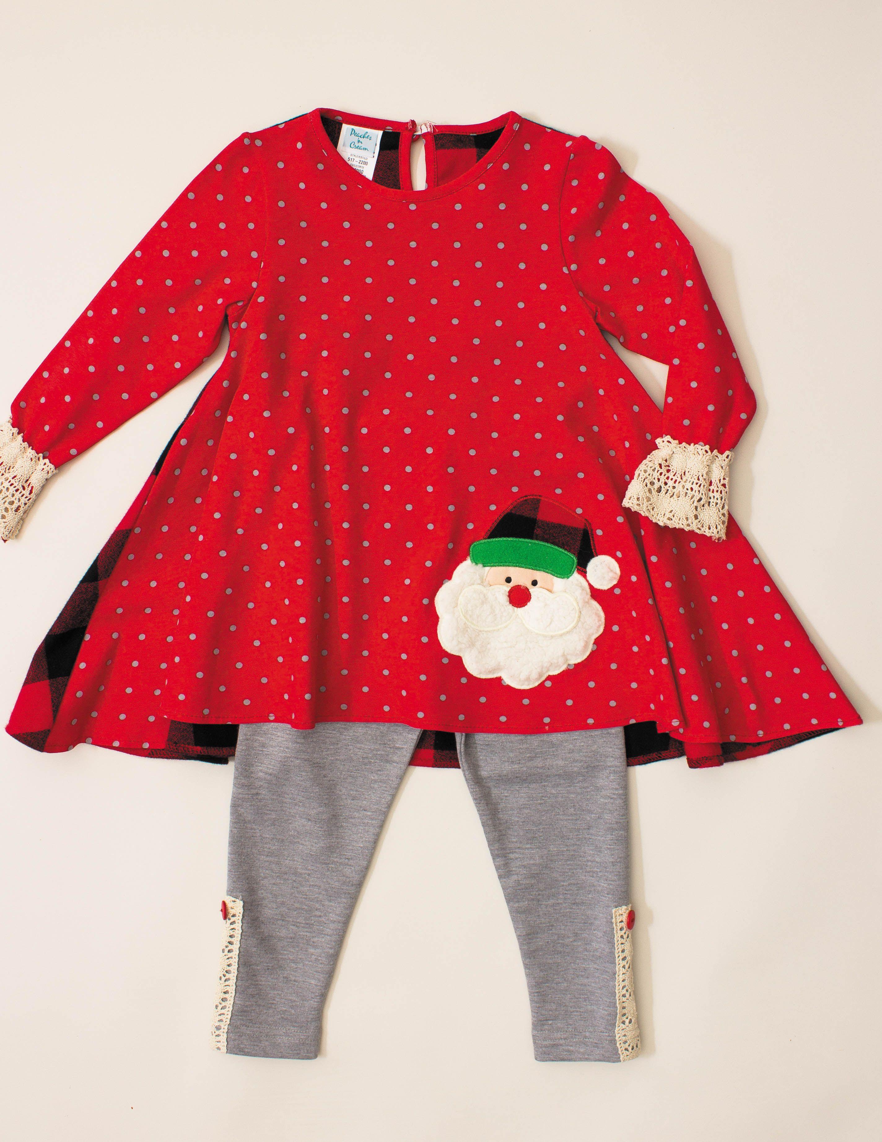 96e8b94cdce894 Peaches n' Cream Christmas 2 Piece Set Toddler   Christmas for Girls ...