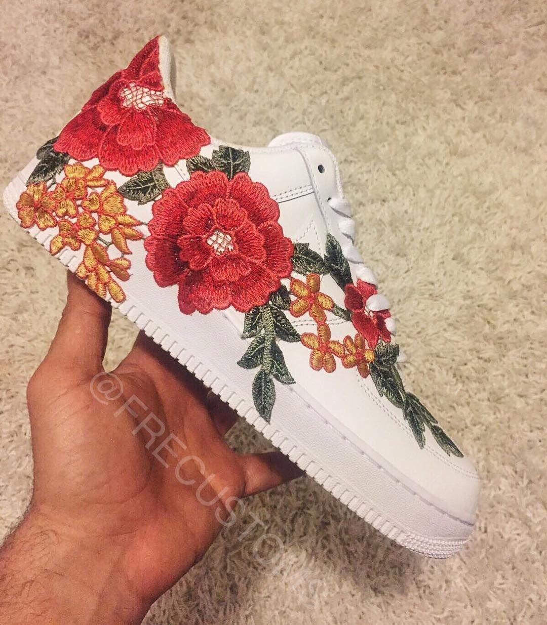 b0f4b83817b207 The Custom Nike Air Force 1  Flowerbomb  Is Pure Fire
