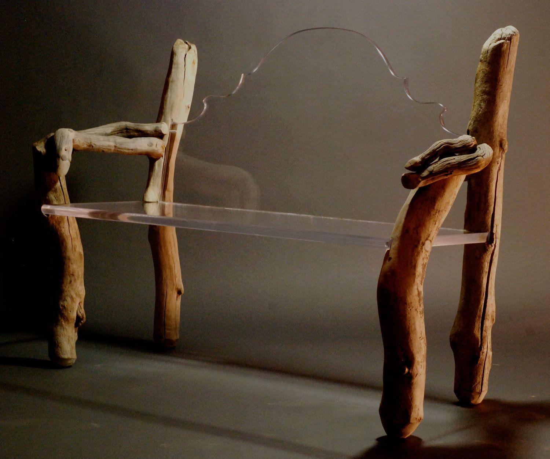Contemporary Organic Bench, Chinois. $1,800.00, via Etsy.