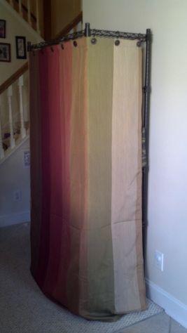 Shower Curtain Hiding Utility Shelf Utility Shelves Plastic