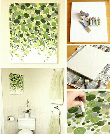 Easy bedroom or bathroom wall art | Bedroom diy | Pinterest ...