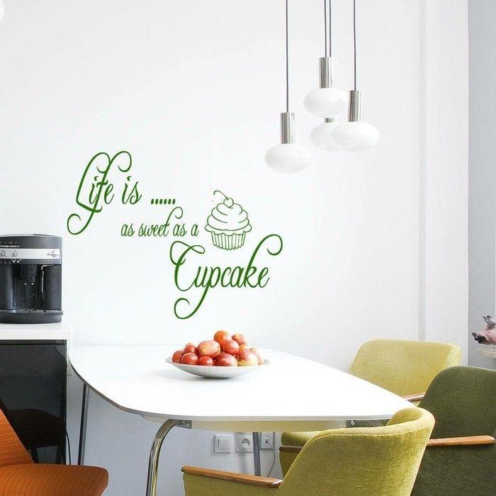 cool deko ideen küche wanddeko grüner wandsticker Check more at - deko ideen küche