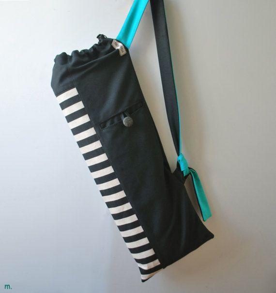 672038ab26fb YOGA MAT BAG Pilates mat bag Striped canvas by misirlouHandmade ...