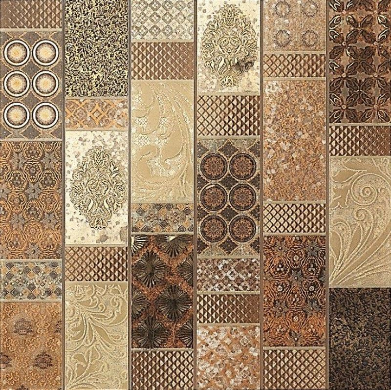 Kitchen Tiles Colour Combination: Dune: BRUSSELS Patchwork-style Mosaic For Combination With