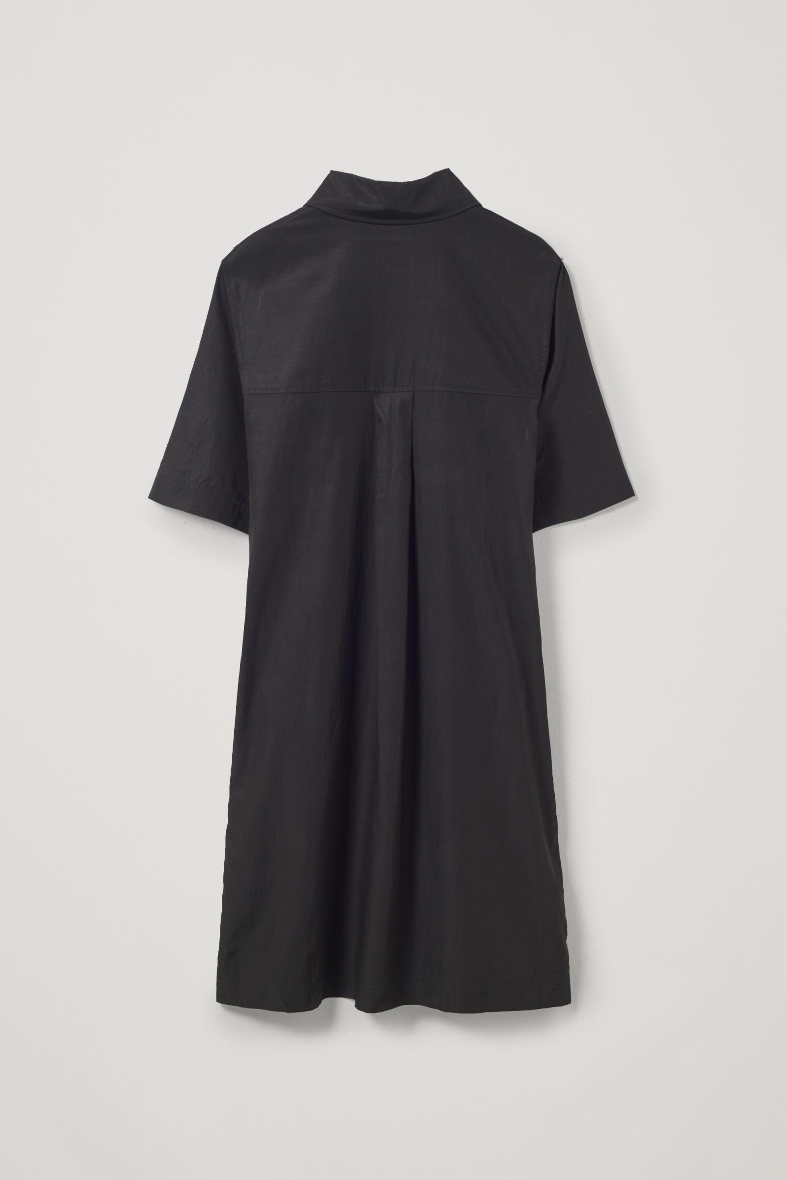 Zip Up Cotton Cupro Shirt Dress Shirt Dress Shirts Dresses [ 2400 x 1600 Pixel ]