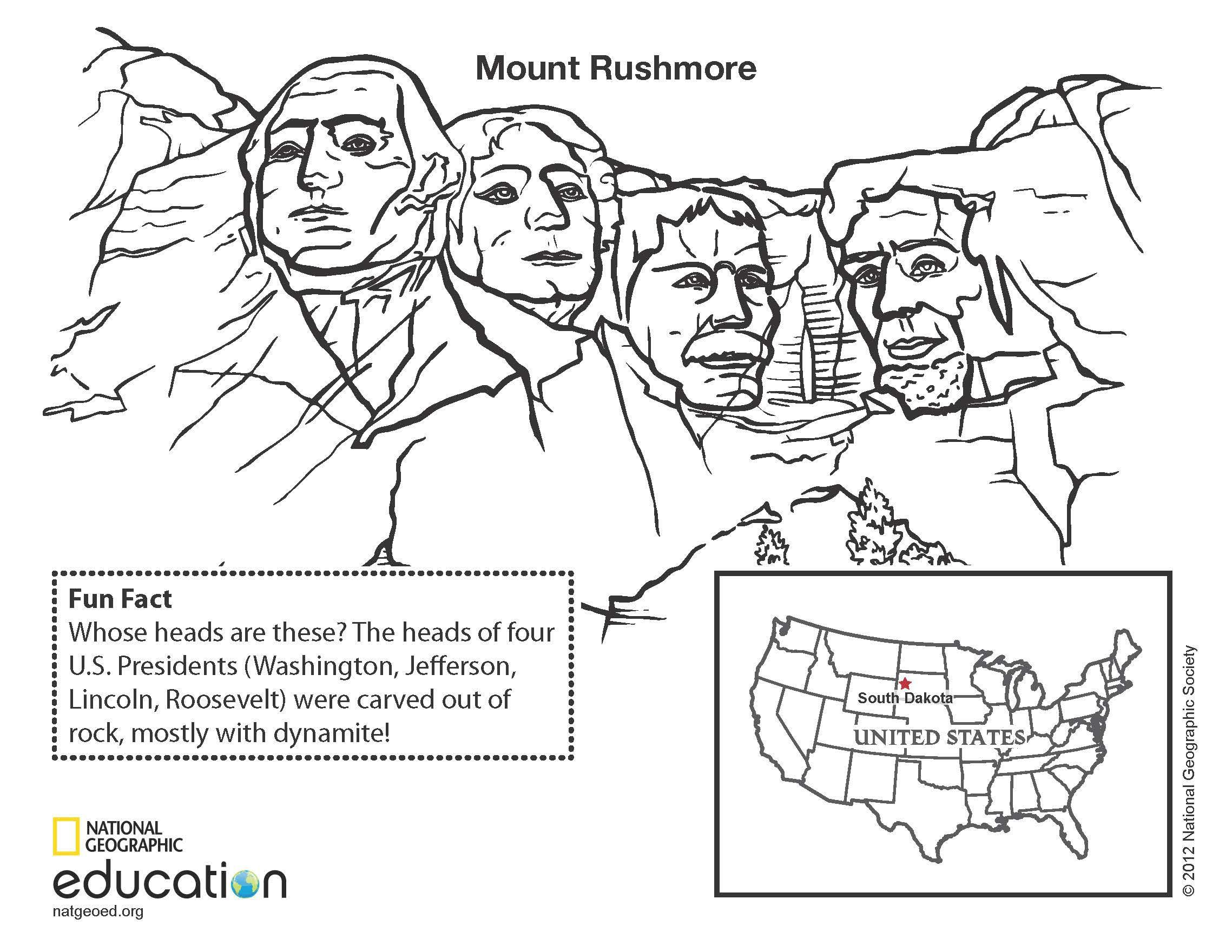 Download And Print This Coloring Page Of A Famous United States