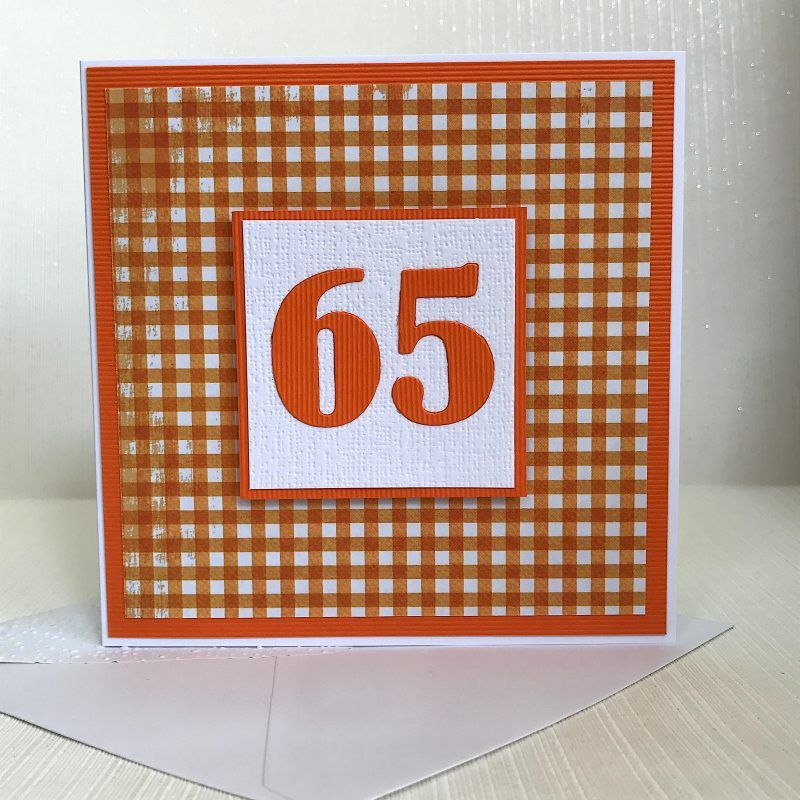 65th Birthday Card Handmade Ready For Delivery