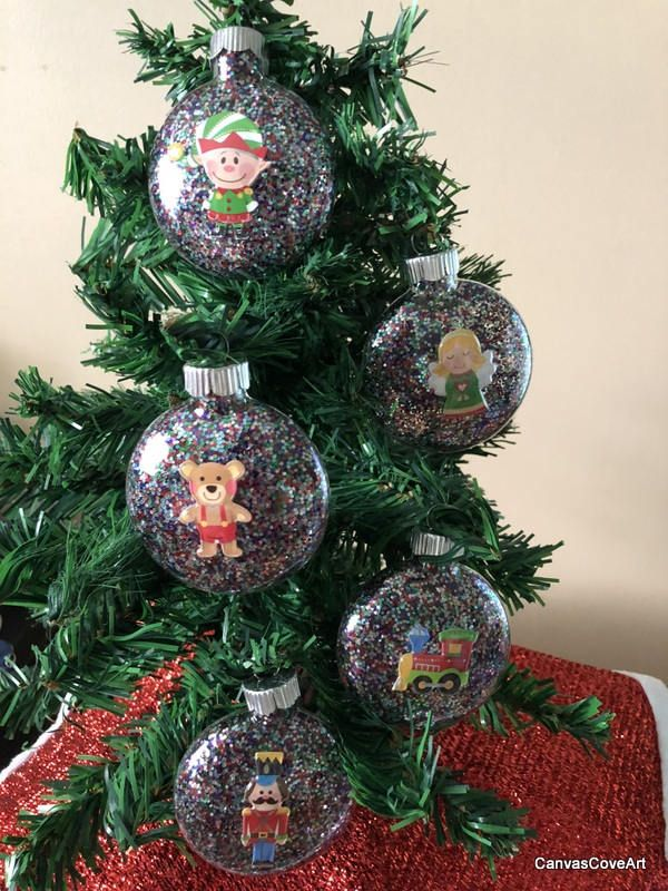 Set Of 5 Multi Color Glitter Christmas Tree Glass Ornaments Round Globes With Colorful Glitter 3d Xmas Toy D Glitter Christmas Glitter Decor Glitter Pumpkins