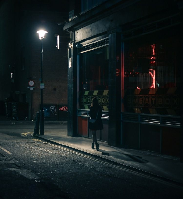 Interview Photographer Captures Voyeuristic View Of People On - City streets glow in eerie night time photographs by andreas levers