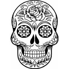 sugar skull version wall vinyl decal the latest in home decorating beautiful wall vinyl decals that are simple to apply are a great accent piece for any - Simple Sugar Skull Coloring Pages