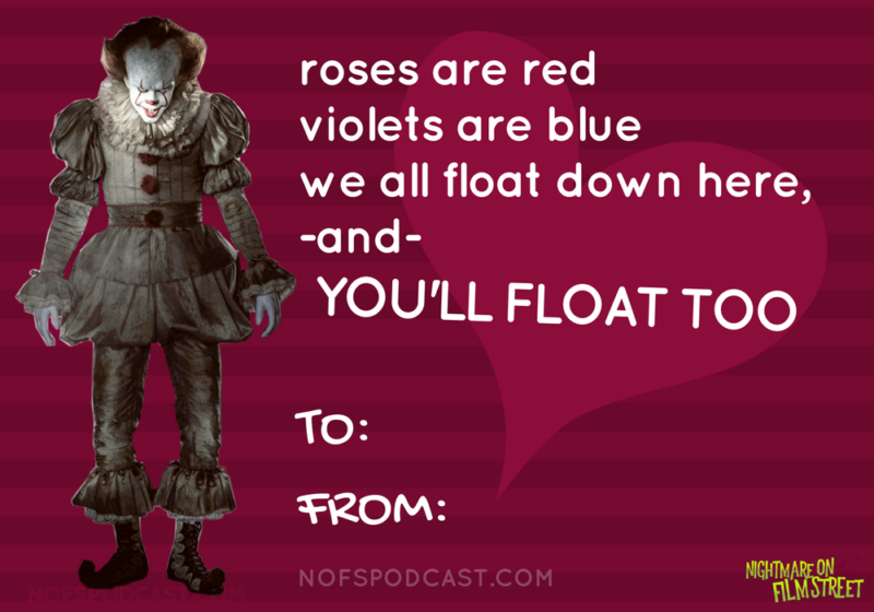 8 Horror Movie Themed Valentine S Day Cards For Your Sick Twisted Sweetie Nightmare On Film Street Horror Movies Funny Valentines Day Card Memes Valentine Day Cards