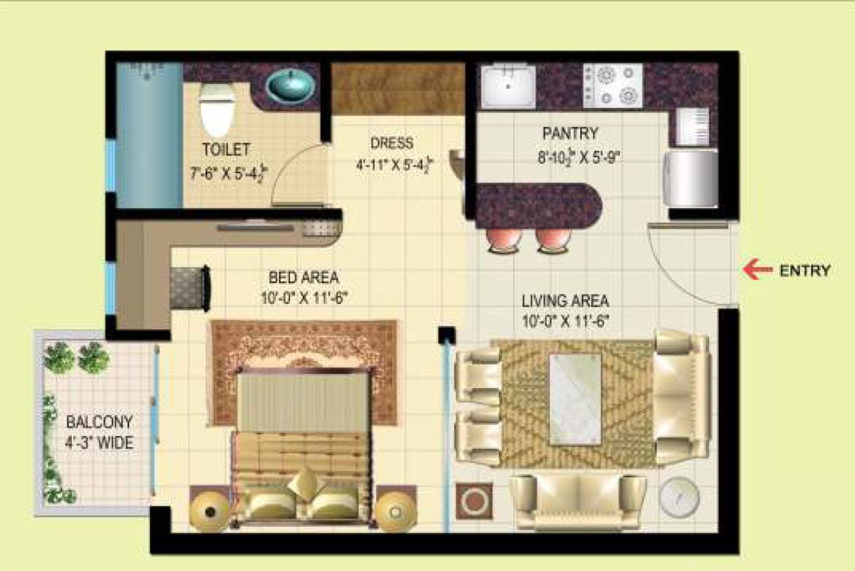 Studio Floor Plans | Studio Floor Plan 1