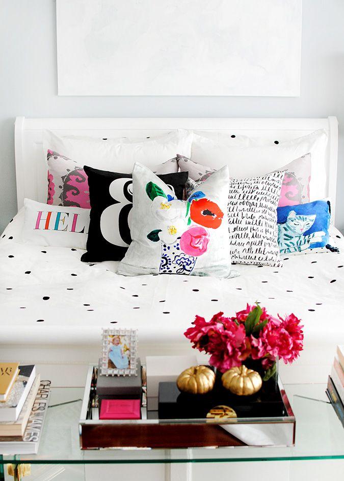 the new Kate Spade New York Home bedding polka dot duvet
