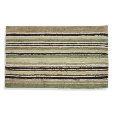 Lacey Green And Brown Bath Rug Bedbathandbeyond Com Lacey