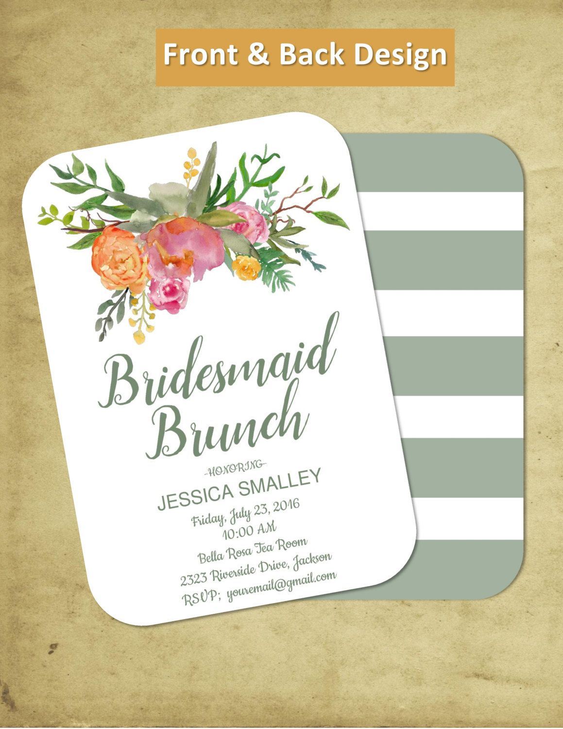 diy printable bridal brunch customize to bridesmaids brunch