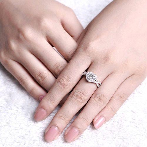 Blumen Diamant Ring Platinring Verlobungsringe Platin Damenring