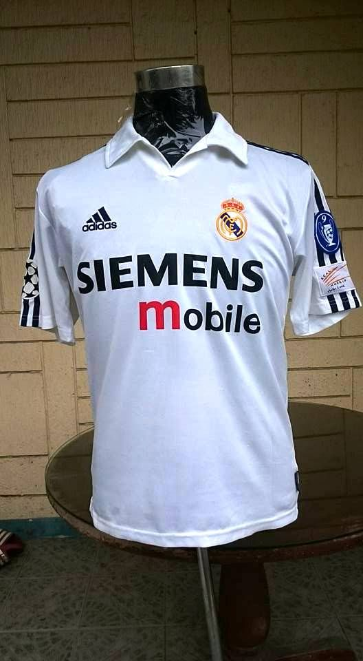 Real Madrid 2002 2003 Uefa Super Cup Champion Jersey Shirt Real Madrid Kit Jersey Shirt Uefa Super Cup