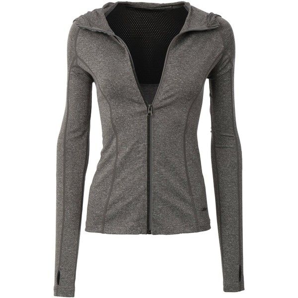 LE3NO Womens Full Up Zip Long Sleeve Active Sports Running Top at... (86 BRL) ❤ liked on Polyvore featuring outerwear, jackets, tops and workout