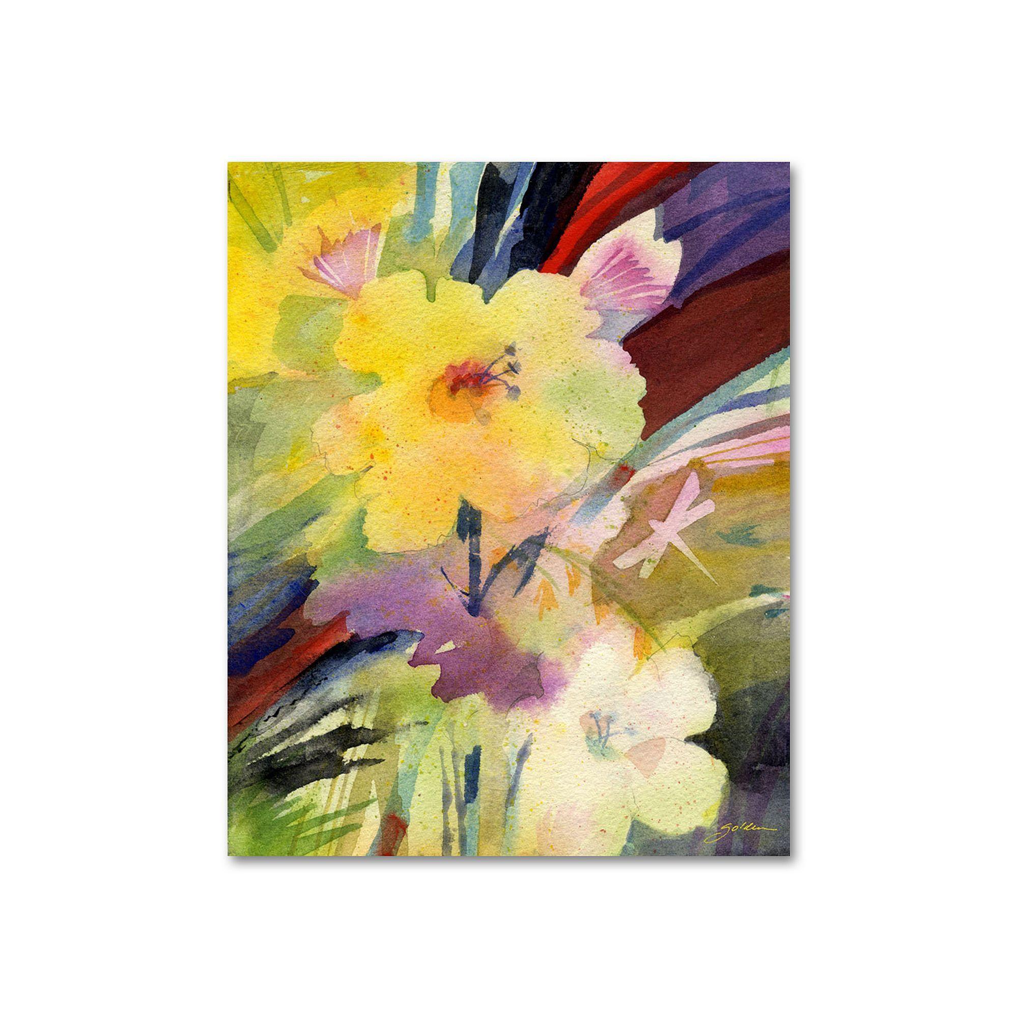 19\'\' x 14\'\' \'\'Dragonfly Garden Dream\'\' Canvas Wall Art by Sheila ...