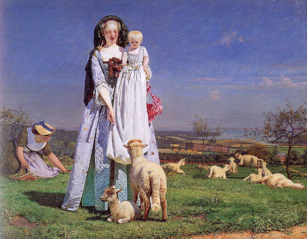 Ford Maddox Brown Pretty Baa Lambs Pre Raphaelite Art Pre Raphaelite Paintings Brown Art