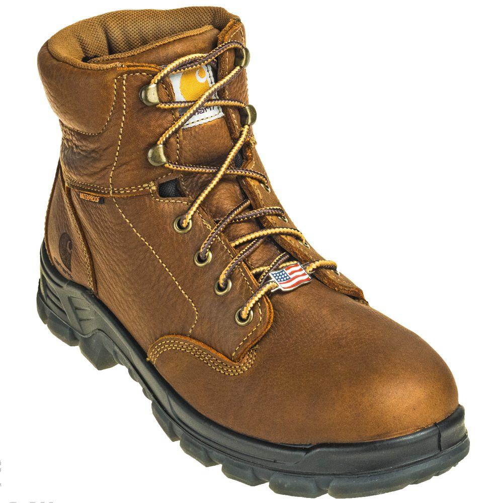 Carhartt Boots Men's CMZ6040 USAMade Brown 6 Inch Work