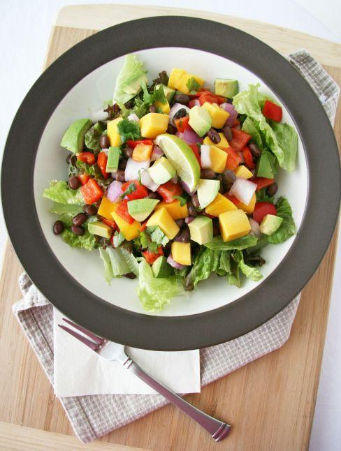 Chop-Chop Mango and Black Bean Salad | Natural Noshing