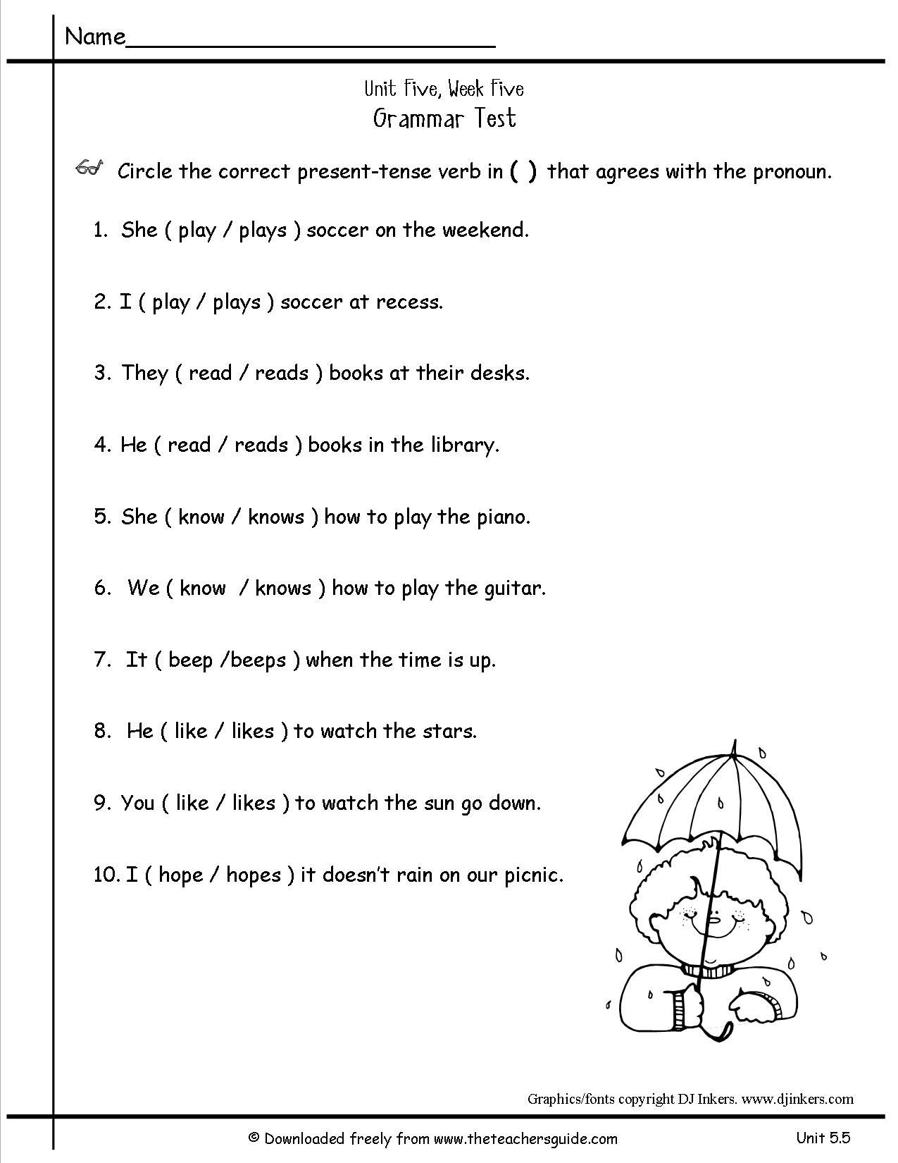 2nd Grade Pronoun Worksheets Free Pronoun Worksheet For